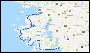 Google Galway and Mayo Cycling Map