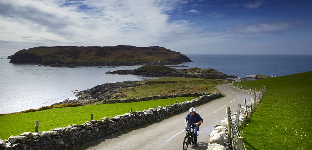 Cyclist on Isle of Man.