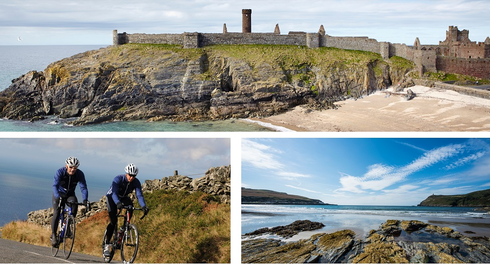 Isle of Man cycling collage