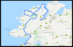 Google Donegal Cycling Map