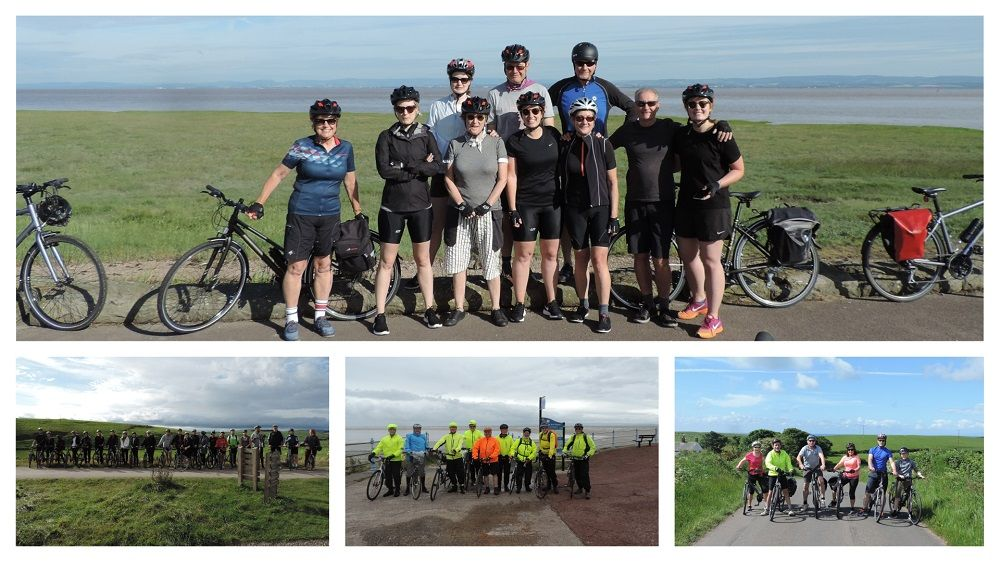 Supported Cycling Tours college with a number of pictures of groups of cyclists along the route