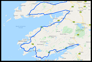 Google Kerry Cycling Map