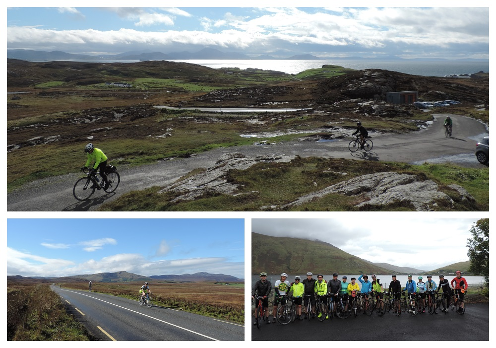 Wild Atlantic Way Cycling Tour collage with a number of images along the route