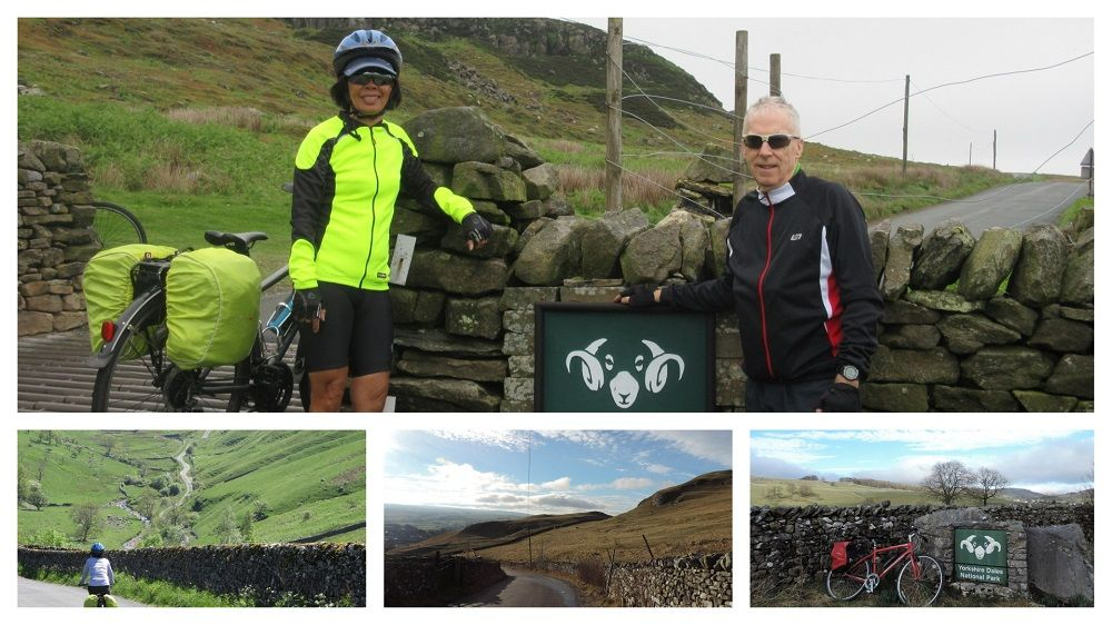 Yorkshire Dales Cycleway Collage of groups of cyclists and images around the route of the Yorkshire Dales
